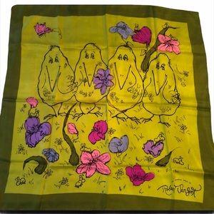 Pop Art 60's Whimsical art of Robert Sargent. Silk